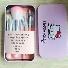 Hello Kitty 7pcs Powder Brush Set Foundation Eyeshadow Eyeliner Lip Brush Tool/7