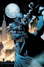 JIM LEE rare KISSING THE KNIGHT giclee CANVAS signed BATMAN CATWOMAN Hush COA