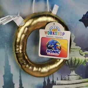 🛸 NWT Build A Bear Sonic The Hedgehog Gold Ring Wristie (SOLD OUT)