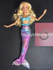 2pc set Barbie Doll Mermaid Outfit/Dress/Clothes and 1x Faux Pearl Necklace New