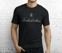 Cheap New Brooks Brothers Men's Black T-Shirt Size S-3XL
