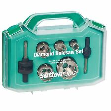Sutton Tools DIAMOND SEGMENT HOLESAW SET 7Pcs Cut-Out Slots*Australian Brand