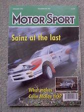 Motor Sport (Jan 1993) Alfa 155 V6, BMW M3, Metro GTi, Colin McRae, Honda Beat