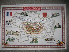 SERVIETTE SOUVENIR  CARCASSONNE EN COTON 70 cm / 48 cm