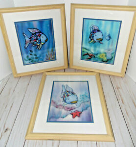Marcus Pfister Series of 3 Rainbow Fish Framed Prints 2001