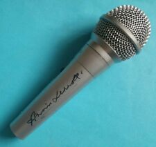 Annie Lennox 'Eurythmics', hand signed in person Microphone.