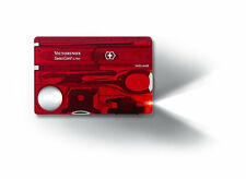 VICTORINOX Swisscard Lite Rosso Nuovo/Scatola Originale M. & LED 13 funzioni Swiss Card Multitool