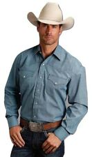 fa800fca Stetson Men's Blue Printed Snap Button Down Shirt 11-001-0425-0630
