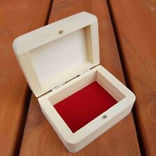 SMALL WOODEN BOX 9 CM LONG CLOSED FOR MAGNET