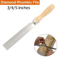 Diamantfeile 75/100/125mm Holzgriff Flachfeile Schlüsselfeile Feile Nadelfeile
