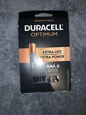 Duracell Optimum AAA Batteries, Pack Of 6 Batteries New