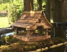 Vogelhaus Futterhaus Vogelfutterhaus Handarbeit Holz * geflammte Oberfläche *Neu