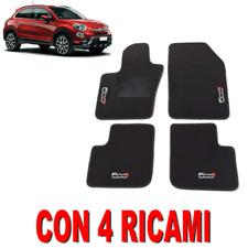 TAPPETINI PER AUTO SU MISURA PER FIAT 500X IN MOQUETTE FONDO GOMMA CON 4 RICAMI