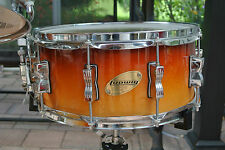 LUDWIG 14X6 ACCENT CS CUSTOM TOBACCO FADE SNARE for YOUR DRUM SET! LOT #V214