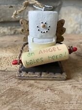 The Original S'mores Midwest Marshmallow Ornament Angel With Rolling Pin