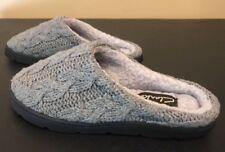 Clarks Size 6 Gray Sweater Fleece Lined Slipper Shoes Hard Soles W65