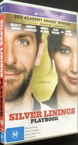 SILVER LININGS PLAYBOOK - DVD - Region 4 - PAL - Excellent Condition - Free Post