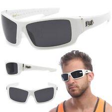 LOCS Rectangular Gangster White Shades Mens Designer Sunglasses Cholo Dark Lens