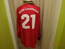 "Bayer 04 leverkusen adidas manga larga Camiseta matchworn 98/99 ""aspirina"" + nº 21 talla XL"