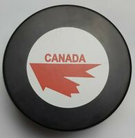 TEAM CANADA OFFICIAL HOCKEY PUCK INGLASCO MFG. MADE IN SLOVAKIA