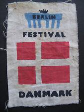 Original uniforme Patch Berlin Festival de la juventud 1951 Dinamarca