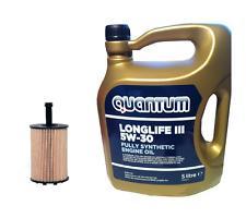 Quantum Oil 5w30 + Filter VW Passat 3.6 R36 4motion 3597CC 220KW Petrol