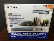 Sony Icf-Cdk50 Am/Fm/Cd Under Cabinet Kitchen Clock Radio Spacesaver - New