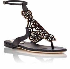 :) Fendi Floral Laser-Cut Gladiator Sandals black NIB 38 8