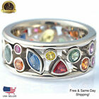 Gorgeous 925 Silver Rings For Women Cubic Zircon Jewelry Wedding Gift Size 6-10