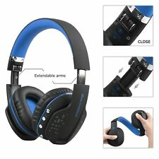 Blue Beexcellent Bluetooth Wireless Foldable Gaming Headset Xbox One PS4 Headset
