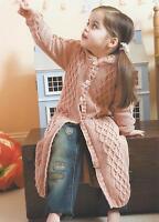 "Girls Dressing Gown 20-26"" Knitting Pattern Double Knitting  210"