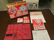 Vintage 1960s Kenner SUPER SPIROGRAPH No. 2400 Game-Toy 1969 Box & Instructions