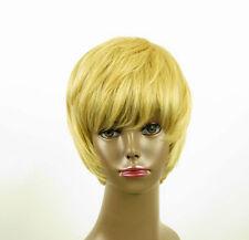 perruque afro femme 100% cheveux naturel courte blonde ref LAET 01/22