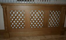 Solid oak radiator covers