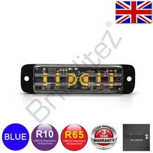 Britalitez Grille/Directional 6LED Warning Light, 12/24V,6*5W, BLUE ECE R65 IP67