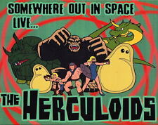 Somewhere Out In Space Live The HERCULOIDS PRINT Hanna Barbera