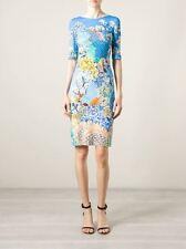 Mary Katrantzou 'Ramora' Ocean Pile Viscose Dress Size XS