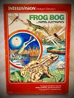 FROG BOG - Vintage 1982 Mattel Intellivision - Video Game
