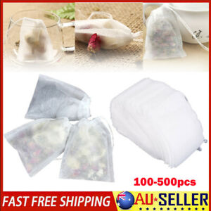 100-500pcs Empty Teabags Heat Seal Filter Pepper Herb Loose Tea Bags