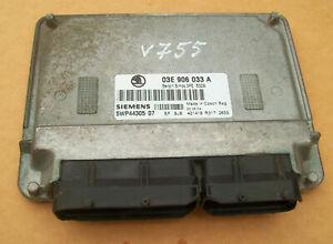 Skoda Fabia  Motorsteuergerät  03E906033A 1.2  AZQ  5WP4430507  Simos 3PE 5329