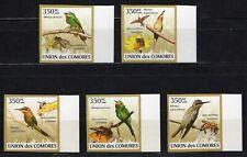 COMORES 2009 LES GUEPIERS VOGEL BIRDS AVES SIDE STAMPS MNH