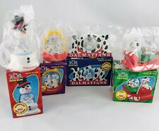 101 Dalmatians Water Snow Globes Mcdonalds Happy Meal Toy 1996 Set Of Four boxes