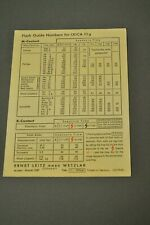 Flash Guide Numbers for Leica IIIg, With Spelling Error Misprint! c1957 RARE!