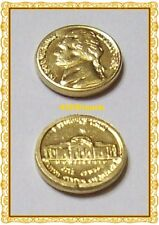 mini Pièce USA 1978 OR 22K GE Arras Président Jefferson Five Cents GOLD Arrhes