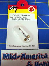 AJ'S 2501 Knuled Threaded axle 1 inch w/ nuts  0-80  from Mid-America Raceway