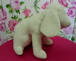 Seated Dog Mannequin made in upholstery fabric.  Made in England. NEW