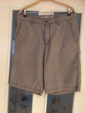Men's Clothes Tommy Bahama Grey Soft Denim Cotton Shorts 34 Waist W34 (67)