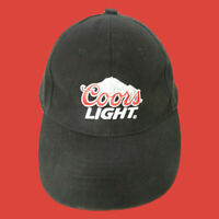 Coors Light Beer Hat Baseball Cap Brewery Adjustable Black