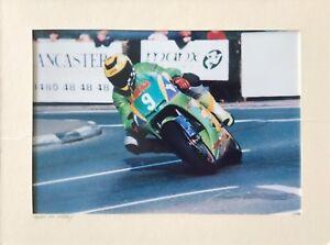 Owen McNally Motorcyclist Photograph  / Isle of Man TT / Joey Dunlop / Motorbike