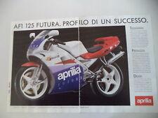 advertising Pubblicità 1990 MOTO APRILIA AF1 AF-1 125 FUTURA
